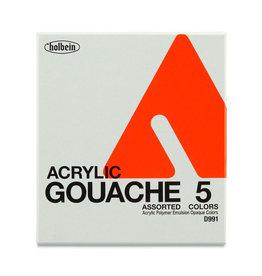 HOLBEIN ACRYLA GOUACHE 12ML TUBE SET/5