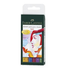 FABER CASTELL PITT ARTIST PENS BASIC SET/6