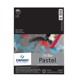 "CANSON MI-TEINTES PASTEL PAD ASSORTED GRAY 12""X16"""