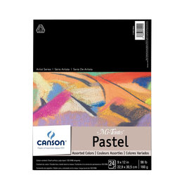 "CANSON MI-TEINTES PASTEL PAD ASSORTED COLOR 12""X16"""