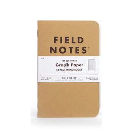 FIELD NOTES FIELD NOTES ORIGINAL KRAFT GRAPH 3-PACK