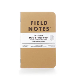 FIELD NOTES FIELD NOTES ORIGINAL KRAFT MIXED 3-PACK