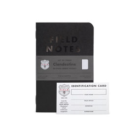 FIELD NOTES FIELD NOTES LIMITED EDITION CLANDESTINE 3PK
