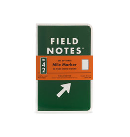 FIELD NOTES FIELD NOTES LIMITED EDITION MILE MARKER JOURNALS 3PK