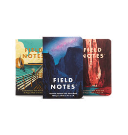 FIELD NOTES FIELD NOTES LIMITED EDITION NATIONAL PARK 3PK YOSEMITE, ACADIA, ZION