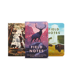 FIELD NOTES FIELD NOTES LIMITED EDITION NATIONAL PARK 3PK ROCKY MT, GREAT SMOKEY, YELLOWSTONE