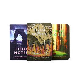 FIELD NOTES FIELD NOTES LIMITED EDITION NATIONAL PARKS 3PK, GRAND TETON, ARCHES, SEQUOIA