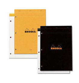 RHODIA RHODIA BLACK LINED 3-HOLE PAD 8X11