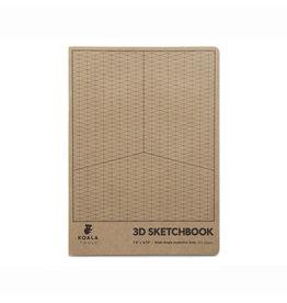 3D WIDE-ANGLE ISO GRID SKETCHBOOK