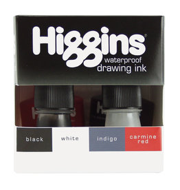 HIGGINS HIGGINS ASSORTED DRAWING INK SET/4