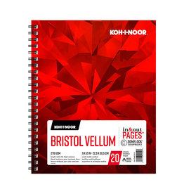 KOH-I-NOOR BRISTOL VELLUM PAD 9X12