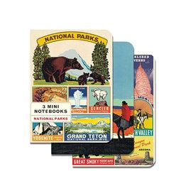CAVALLINI & CO. MINI NOTEBOOKS NATIONAL PARKS SET/3