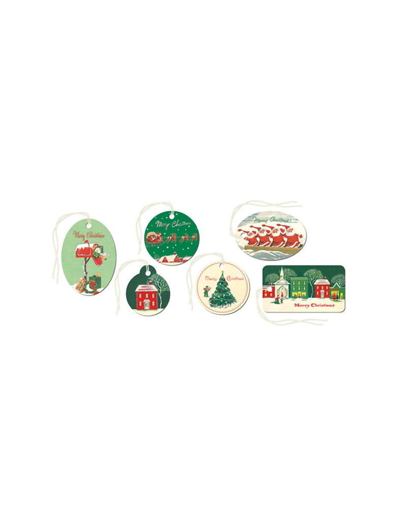 CAVALLINI & CO. GIFT TAGS CHRISTMAS VILLAGE