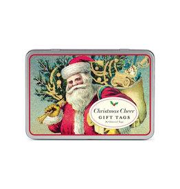 CAVALLINI & CO. GIFT TAGS CHRISTMAS SANTA