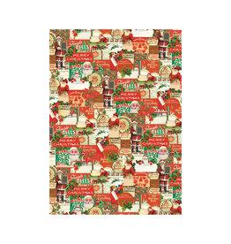 CAVALLINI & CO. DECORATIVE PAPER VINTAGE CHRISTMAS 20X28