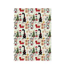 CAVALLINI & CO. DECORATIVE PAPER RETRO CHRISTMAS 20X28