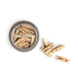 CAVALLINI & CO. CAN O'CLIPS WOODEN CLOTHESPINS 24PK