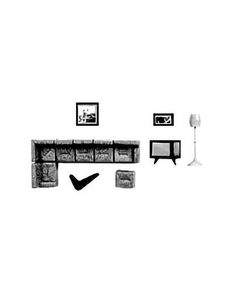 PLASTRUCT 1/8'' SCALE LIVING ROOM