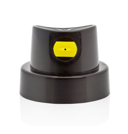 MONTANA PAINT MONTANA FLAT JET MEDIUM BLACK / YELLOW CAPS