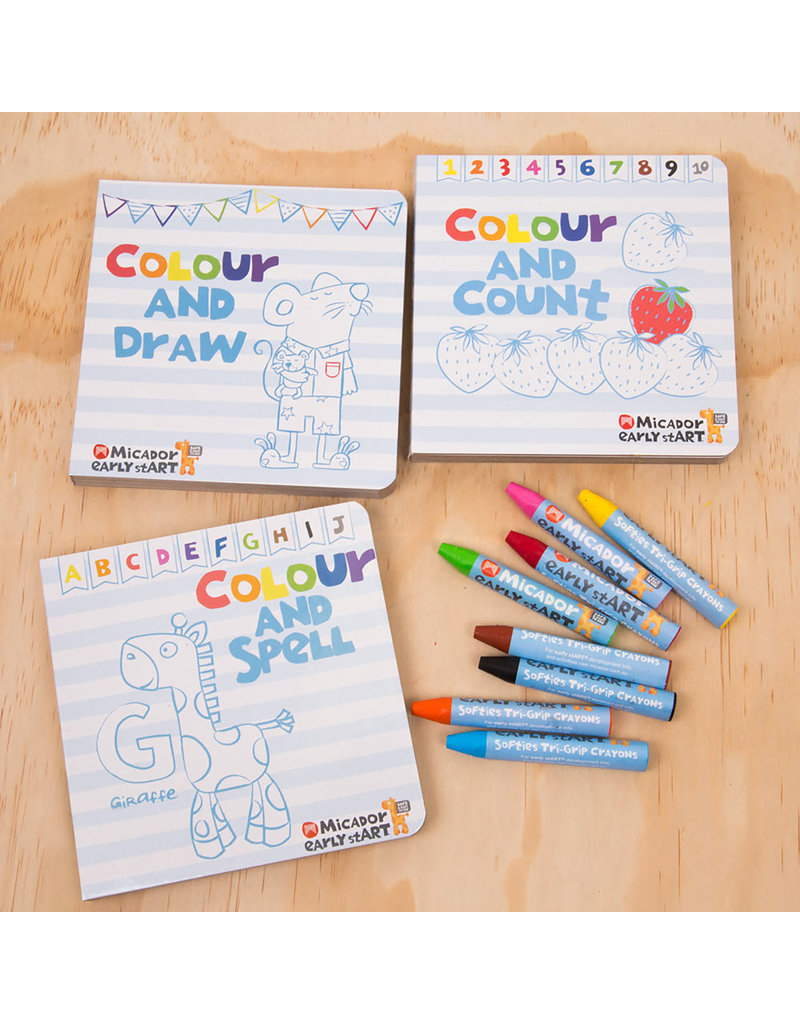 MICADOR EARLY START COLOURTIVITIES BOARD BOOKS SET