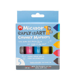 MICADOR EARLY START CHUNKY MARKERS 5PK