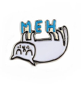 BADGE BOMB ENAMEL PIN MEH CAT