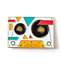 BADGE BOMB ENAMEL PIN RETRO MIX TAPE