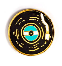 BADGE BOMB ENAMEL PIN VINYL RECORD