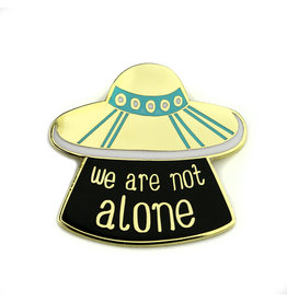 BADGE BOMB ENAMEL PIN WE ARE NOT ALONE