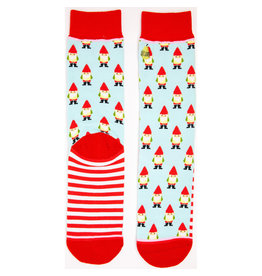 WOVEN PEAR CREW CUT SOCKS GARDEN GNOMES