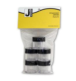 JACQUARD CLEAR PLASTIC JAR .25OZ 5PK