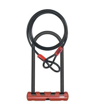 Abus Ultimate, Cadenas en U et cable, 160mm x 230mm (14mm x 6.3'' x 9''), Cable 10mmx120cm (10mm x 4'), Avec fixation USH