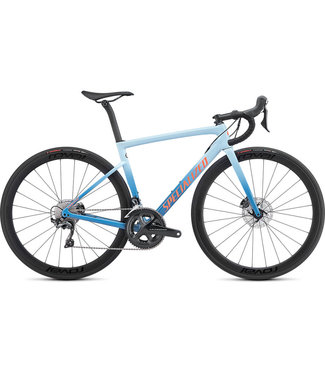 Specialized TARMAC F SL6 EXPERT DISC - Gloss Storm Grey/Ice Blue/Acid Lava 49