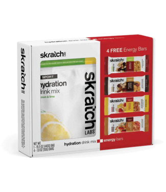 SKRATCH LABS Skratch Labs Sport Hydration Drink Mix and Gift with Purchase: Lemons and Limes, 20-Serving Bag, 4 Anytime Energy Bar Samples