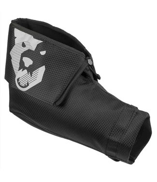 Wolf Tooth Wolf Tooth Singletrack Pogie: Black and Gray Logo, Pair