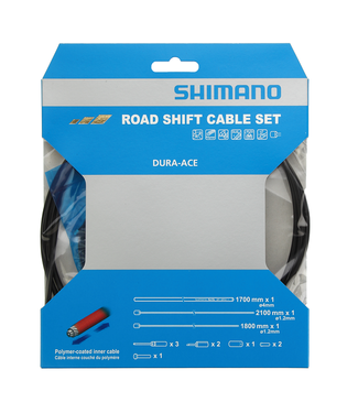 Shimano ENSEMBLE SHIFT CABLE SET ROAD POLYMER COATED BLACK