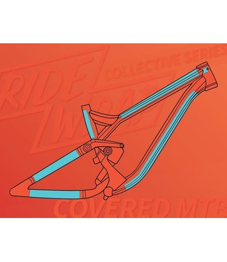 RIDEWRAP Ridewrap Covered Frame Protection Kit, MTB, Collective Series, Clear Matte Finish, Small / Medium Frame Size