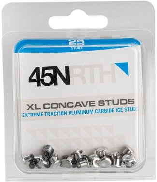 45NRTH XL Concave Carbide Aluminum Studs: Pack of 25