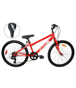AVP M24 - Version 21 vitesses - Rouge / Blanc - Roues 24''