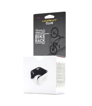 "Clug Clug Wall Mount Bicycle Storage Rack, White/Black, MTB XL  (fits tires 2.3"" - 2.7"")"