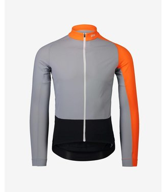 POC MAILLOT essential road mid ls jersey - granite grey/zink orange - SML