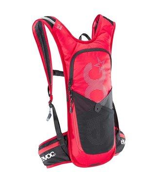 EVOC EVOC, CC 3 Race + Réservoir 2L, Sac d'hydratation, Volume: 3L, Réservoir: Inclus (2L), Rouge/Noir