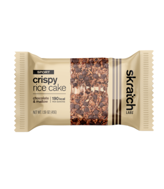 SKRATCH LABS Crispy Rice Cake Bar - Chocolate and Mallow,