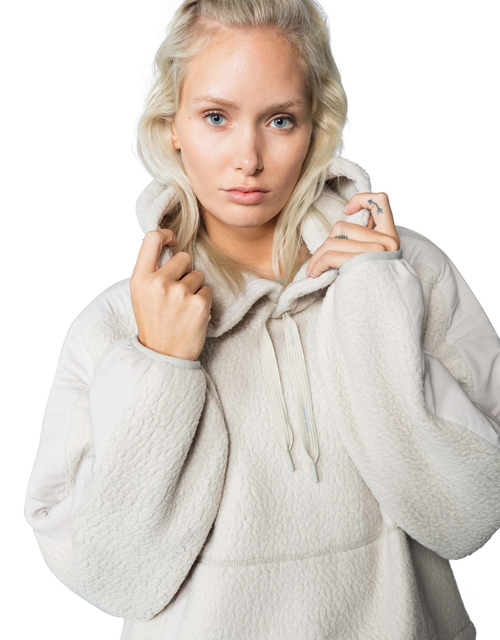 HOLDEN WOMENS OVERSIZED SHEARLING HOODIE