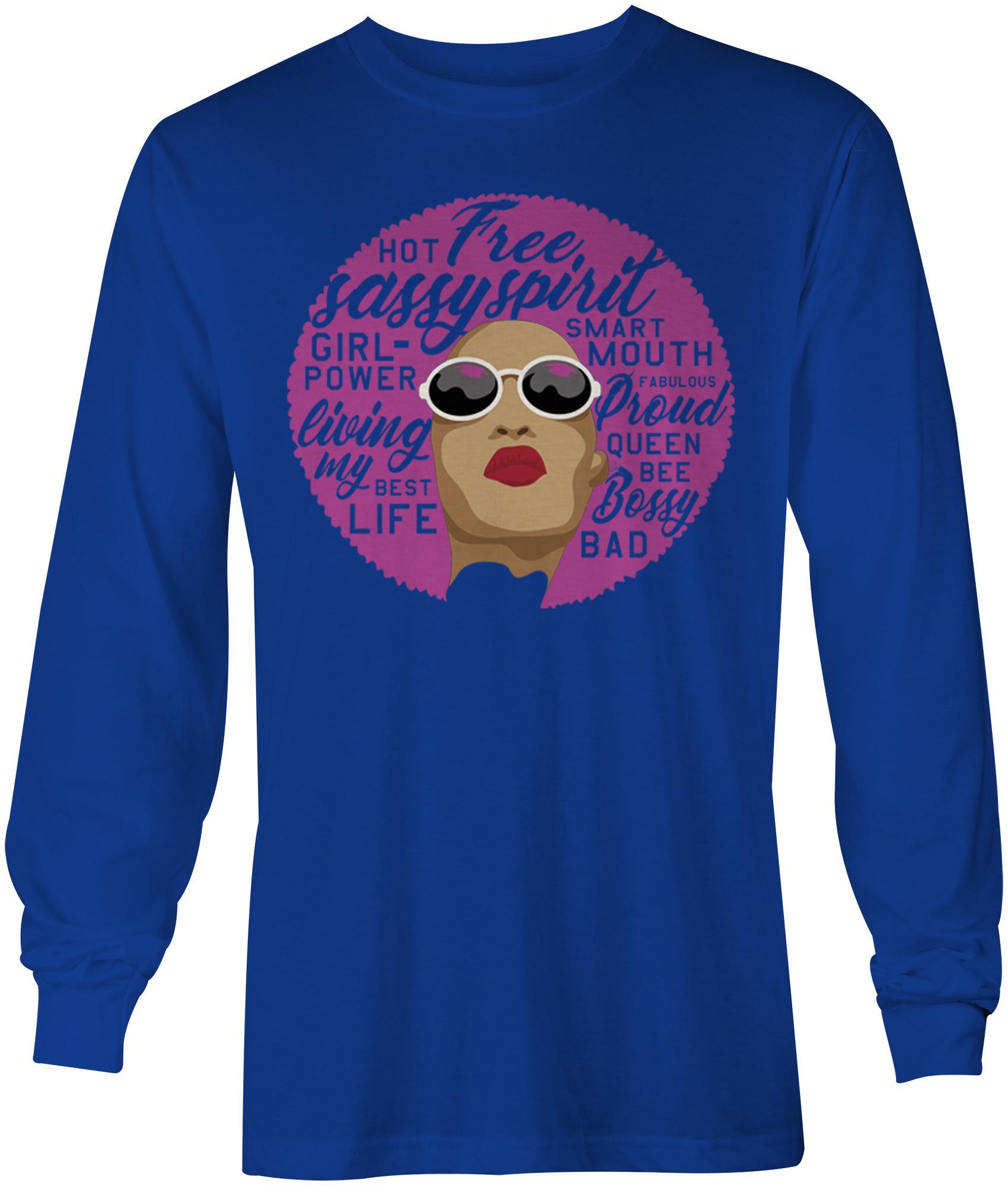 576fe2b1d Afro Queen T-shirt Long Sleeve - FTC Custom Tees & Apparel