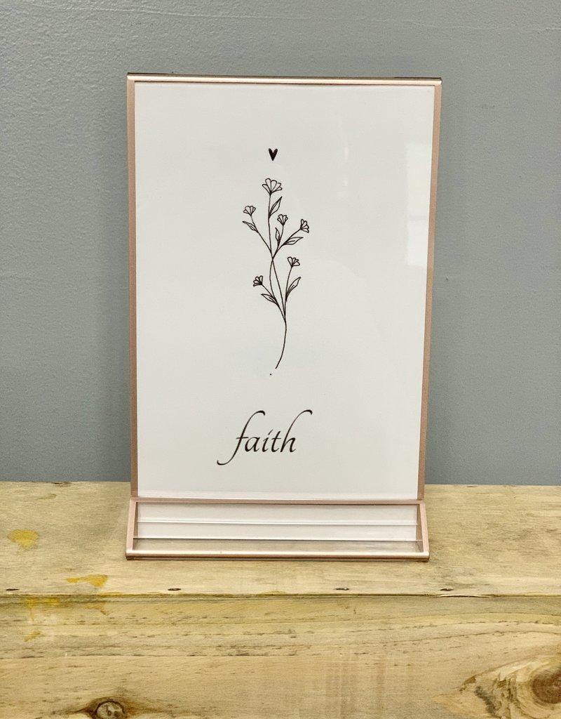 Rose Gold Faith Silhouette