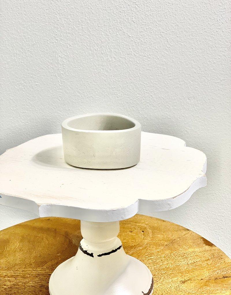 Gray Concrete Dish