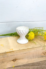 Ivory Metal Candle Holder