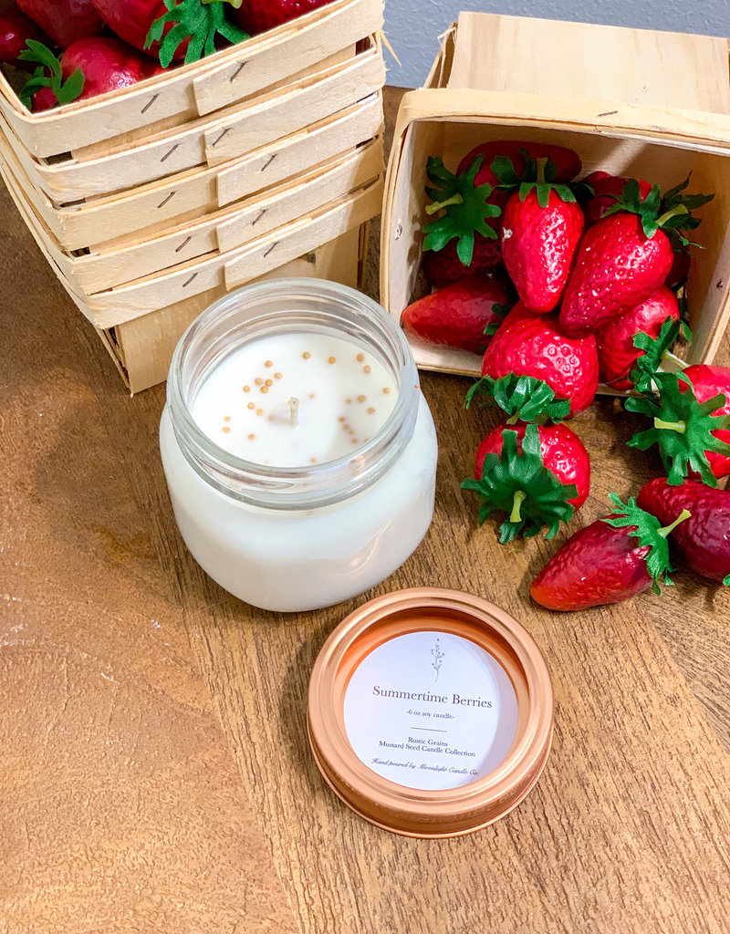 Summertime Berries 6oz Mustard Seed Candle