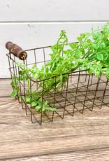 Rusty Wire Basket